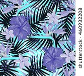 tropical flowers pattern | Shutterstock .eps vector #460932208