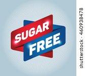 sugar free arrow tag sign icon.