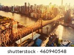 aerial view of the ed koch... | Shutterstock . vector #460940548