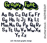 set of uppercase and lowercase... | Shutterstock .eps vector #460948369