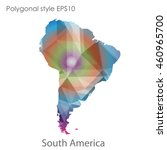 south america map in geometric... | Shutterstock .eps vector #460965700