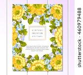 vintage delicate invitation... | Shutterstock .eps vector #460979488