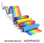 cmyk set of printer rollers... | Shutterstock . vector #460994620