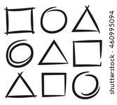 hand drawn geometric frames ... | Shutterstock .eps vector #460995094