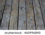 old hard brown wood table with... | Shutterstock . vector #460996840