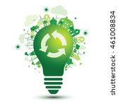 green city and recycle logo... | Shutterstock .eps vector #461008834