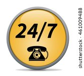 24 7 support phone icon.... | Shutterstock . vector #461009488