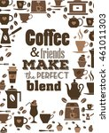 coffee quote. coffee and... | Shutterstock .eps vector #461011303