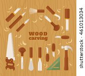 instrument for carving. the... | Shutterstock .eps vector #461013034