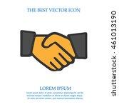 partnership business vector... | Shutterstock .eps vector #461013190
