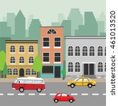 city street. buildings ... | Shutterstock .eps vector #461013520