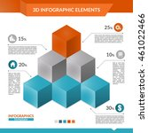 3d infographics pyramid of... | Shutterstock .eps vector #461022466