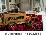 the reserved sign made from... | Shutterstock . vector #461032558
