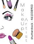 vector hand drawn illustration... | Shutterstock .eps vector #461038903