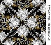 vintage pattern on black... | Shutterstock . vector #461039119