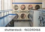 line of laundry machine in the... | Shutterstock . vector #461040466