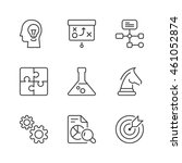 management and strategy icons...   Shutterstock .eps vector #461052874