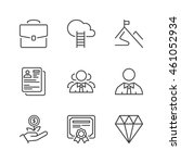 professional success icons set  ... | Shutterstock .eps vector #461052934