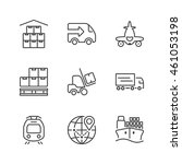 set of thin line icons isolated ...   Shutterstock .eps vector #461053198