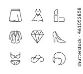 fashion and shopping icons set  ...   Shutterstock .eps vector #461053858