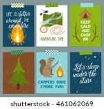 Vector Set Of Camping Cards....