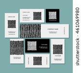 business card  zentangle... | Shutterstock .eps vector #461069980