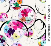 abstract floral background... | Shutterstock .eps vector #461073646
