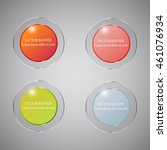 vector infographic. banners set.... | Shutterstock .eps vector #461076934