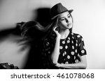 young beautiful fashion model... | Shutterstock . vector #461078068
