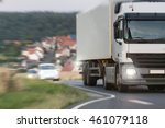 truck speeding on a country road | Shutterstock . vector #461079118