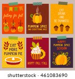 vector set of autumn... | Shutterstock .eps vector #461083690