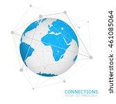 global network connection world ... | Shutterstock .eps vector #461085064