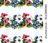 seamless floral pattern with... | Shutterstock .eps vector #461088088