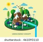 green energy consept  vector... | Shutterstock .eps vector #461093110