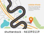 road infographic with colorful... | Shutterstock .eps vector #461093119