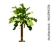 coconut tree pixel art vector.... | Shutterstock .eps vector #461094256