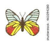 butterfly design for clothing.... | Shutterstock .eps vector #461094280