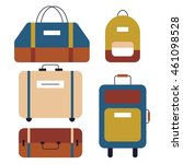 icons set of bags and suitcases ... | Shutterstock .eps vector #461098528
