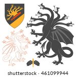 black hydra illustration for... | Shutterstock .eps vector #461099944