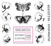 beautiful hand drawn vector... | Shutterstock .eps vector #461101939