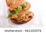 aubergine spread over brown... | Shutterstock . vector #461103376