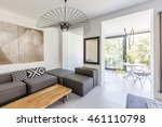 shot of a stylish living room... | Shutterstock . vector #461110798