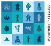 diwali. indian festival icons.... | Shutterstock . vector #461111830