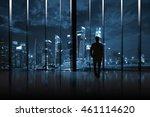 businessman cityscape skyline... | Shutterstock . vector #461114620