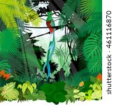 vector south american quetzal... | Shutterstock .eps vector #461116870