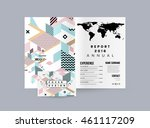 annual report brochure template ... | Shutterstock .eps vector #461117209
