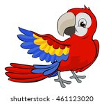 cute cartoon parrot mascot... | Shutterstock .eps vector #461123020