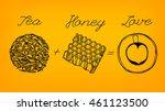 tea time concept. hand drawn... | Shutterstock .eps vector #461123500