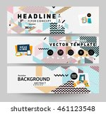 trendy geometric flat pattern ... | Shutterstock .eps vector #461123548