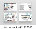 trendy geometric flat pattern ... | Shutterstock .eps vector #461123563